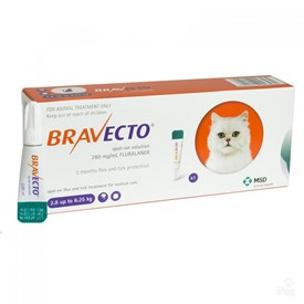 Bravecto Spot-On Medium Cat 6 - 14 lbs (2.8 - 6.25 kg)