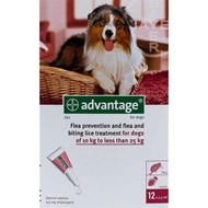 Advantage Red Dogs 22-55lbs (10-25kg) - 12 Pack