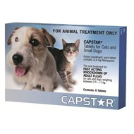 Capstar Small Dogs And Cats 2-25lbs (0.5-11kg) Tablets - 6 Pack