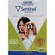 Sentinel Spectrum Dogs 9-25lbs (4-11kg) - 6 Chewables