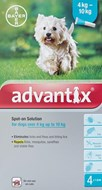 Advantix Dogs 8.8-22lbs (4-10kg) - 4 Pack