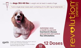 Revolution Red Dogs 22-44lbs (10-20kg) - 12 Pack