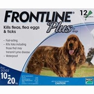 Frontline Plus Medium Dogs 22-44lbs (10-20 kg) - 12 Pipettes