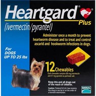 Heartgard Chewables Plus Blue Dogs Under 25 lbs (11 kg) - 1 Chewable