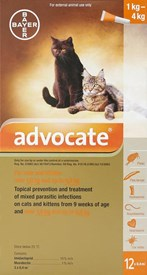 Advantage Multi (Advocate) Cats Under 8.8lbs (4kg) - 12 Pack