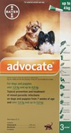Advantage Multi (Advocate) Dogs Under 4kg 8.8lbs (4kg) - 3 Pack