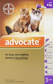 Advocate Cats Over 8.8lbs (4kg) - 3 Pack