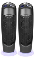 Two Atlas UV Electrostatic Ionic Carbon Filter Air Purifiers
