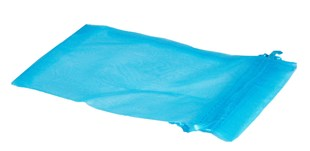 XL Turquoise Organza Pouch With Ribbon Drawstring 180 x 130mm (OGBBXL)