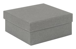 Square Kraft Grey Recycled Jewellery Box 89 x 89 x 38mm (KCGR20)