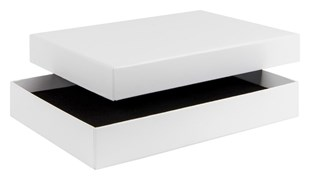 White Laminated A5 jewellery box / stationery box 228 mm x 165 mm x 35mm  (WPA5WH)