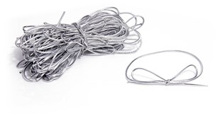 Silver Bow Stretch Loops - Pack of 50 - 11cm-20cm.