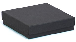 Wholesale black recycled jewellery boxes | Wholesale black gift box in recycled material 89x89x23mm (KCB18)