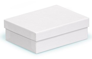 Multi purpose white swirl recycled gift box 110 x 82 x 35mm (CF10)