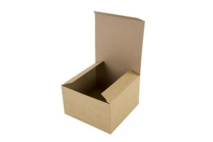 Kraft Natural Basics Range Flat Packed Gift Box - 10cm x 10cm x 5cm (B2P01A)