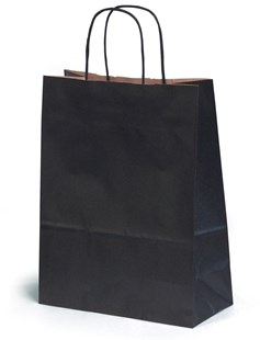 Medium Black Gift Bag 24x11x31cm (BLACKMED24)