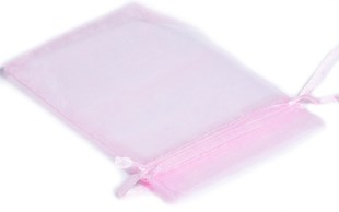 Large Pink Organza Pouch With Ribbon Drawstring 120 x 90mm (OGPILA)