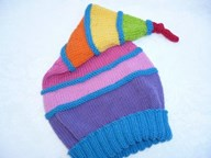 Striped Conical Beanie