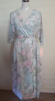 French Country Floral Cotton Wrap Dressing Gown FCJ166V