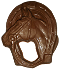 Chocolate Horse with Horseshoe