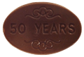 50 Years Chocolate Oval