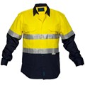 Cotton Drill Shirt long sleeve with 3M reflective tape 7XL and 9XL