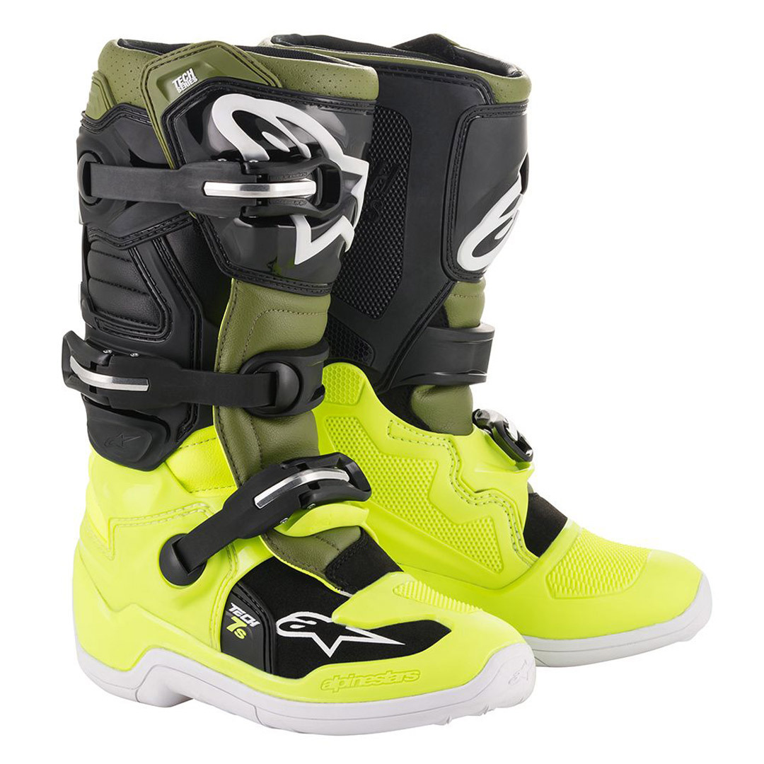 Alpinestars Youth Tech 3S Boots-Black//White-Y8