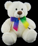 Cleo Rainbow (White) Bear 20cm