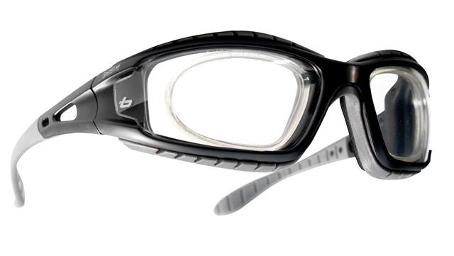 45bf838a30a Bollé - Tracker II Safety Spectacles with Prescription Ready RX Insert -  Clear Anti-Scratch Anti-Fog Lenses ...