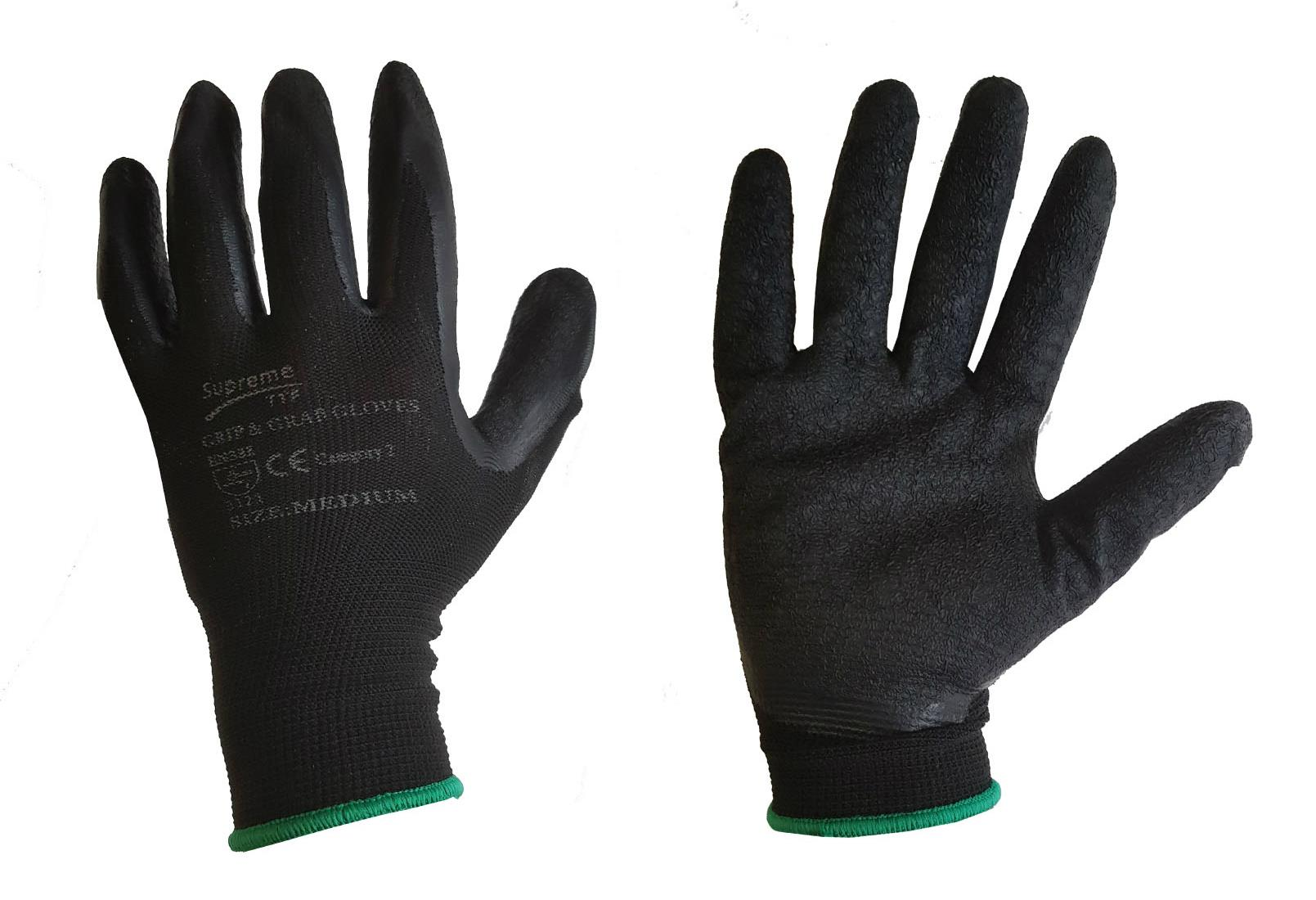 GRAB N GRIP WATERPROOF BUILDERS GRAB /& GRIP GLOVES HIGH FLEX LATEX PALM,WORK