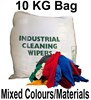 Value General Purpose A1 Coloured Rags - Mixed Colours and Material - [MW-A110KGBAG]