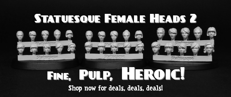 New Fine Scale and Pulp Scale Female Heads on sale!