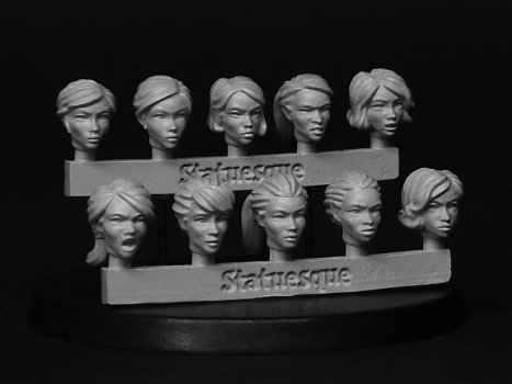 Heroic Scale Female Heads stock update
