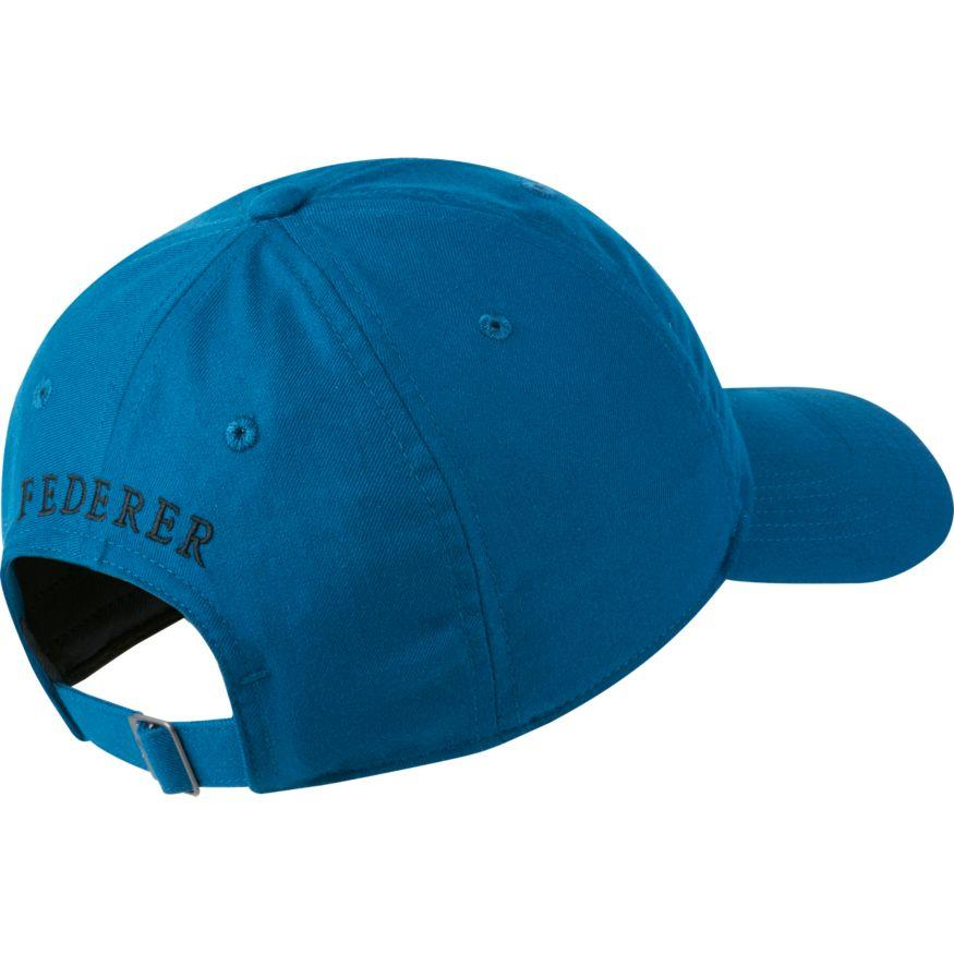 03aa5bc0a32 Nike Court AeroBill Heritage86 RF Roger Federer Tennis Hat Blue ...