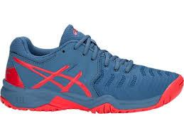 Asics Gel-Resolution 7 GS Kids Tennis Shoes C700Y-400 azure red ... ca8e756efcd
