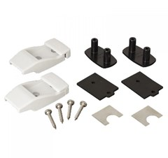 Fiamma Awning Leg Wall Brackets (White)