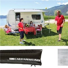 Fiamma Caravanstore Black XL 410 awning - Royal Grey canopy