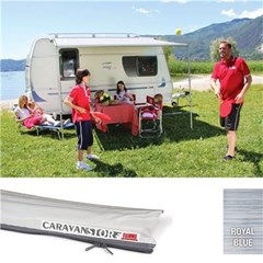 Fiamma Caravanstore XL 440 awning - Royal Blue canopy