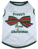 Puppy's First Christmas Dog Coat