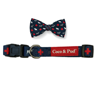 Adventure Dog Collar & Bow Tie