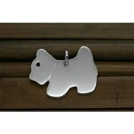Sterling Silver Puppy Pendant