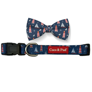 Hamptons Dog Collar & Bow Tie