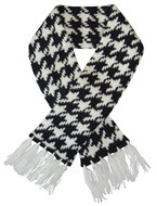Houndstooth Pet Scarf (Black/White)