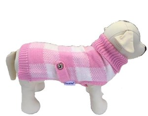 Boston Pet Sweater (Pink/White)