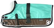 Waterproof Dog Coat 3011-B Teal/ Chocolate (For Big Doggies)