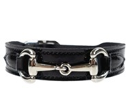 Hartman & Rose Belmont Collar - Black Leather & Nickel