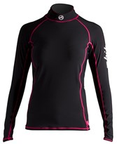 Zhik Coloured Long Sleeve Spandex Womens Black and Pink Clearance