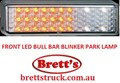 LED175AW 12V FRONT LAMP BULL BAR BLINKER PARK 1/3 WHITE 2/3 AMBER FULLY SUBMERSIBLE 175AW LED L.E.DS LED175 BULLBAR LEDS FUSO ISUZU HINO MITSUBISHI MAZDA 175A 175AW