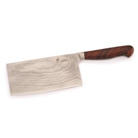 Damascus Cleaver Knife Blank - Zhen