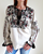 Ladies Long Sleeve Embroidered Blouse Antique Roses Enhanced